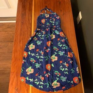 Old Navy Girl's Navy Floral Dress Small 6/7